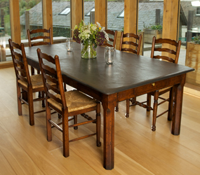 dining tables slate top farmhouse kitchen table rh slatetoptables com  slate grey kitchen table