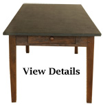 Antique Medium Farmhouse Table Slate Top