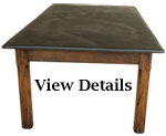 Antique Large Farmhouse Table Slate Top
