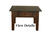 Antique Coffee Table Small Slate Top