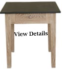 Slate Top Limed Oak Pastry Table