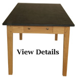 Oak Farmhouse Table Medium Slate Top