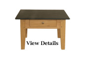 Oak Coffee Table Small Slate Top