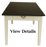 Painted Medium Farmhouse Table Slate Top