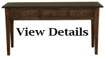 Antique Console Table Slate Top