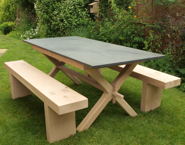 Colyton Garden Table With Benches To Match